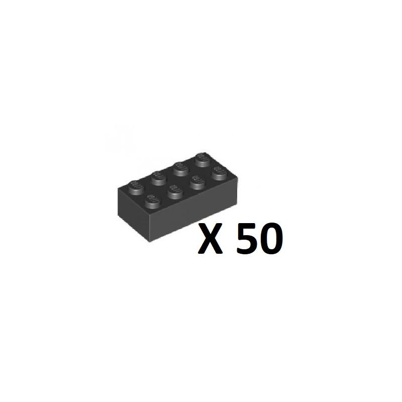 3001  Brick 2 x 4 Negro